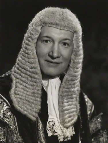 NPG x24056; Alfred Thompson ('Tom') Denning, Baron Denning by Walter Bird